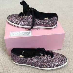 NWB Kate Spade ♠️ Champion Glitter Sneakers